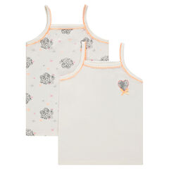 Set of 2 undershirts with thin straps and Disney Frozen print