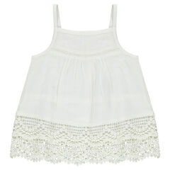 Frilled tunic with lace frills