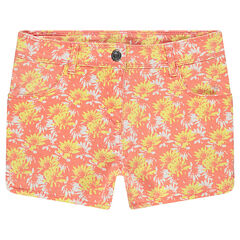 Junior - Twill shorts with an allover print