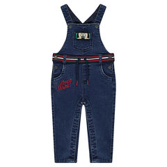 Denim overalls with ©Disney Mickey Mouse badges and embroidery