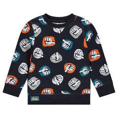 Fleece sweatshirt with an allover Disney print