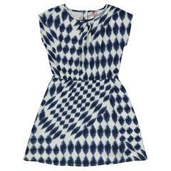 Junior - Fluid dress in trendy printed voile