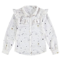 Junior - Long-sleeved shirt with an allover galaxy motif