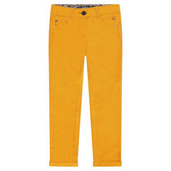 Junior - Plain-colored cropped velvet pants