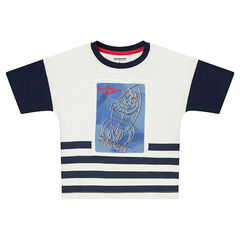 Short-sleeved jersey tee-shirt with a rocket print