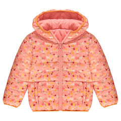 Thin reversible padded jacket with hood