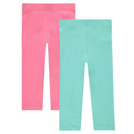 Set of 2 plain-color capri pants
