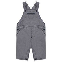 Short overalls with thin stripes
