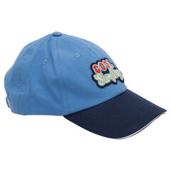 Two-tone twill cap with fantasy patch