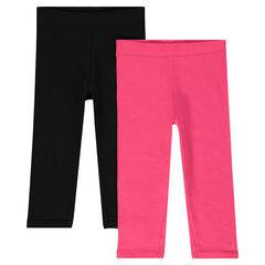 Set of 2 plain-color capri pants