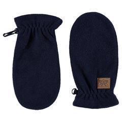 Plain-colored microfleece mittens