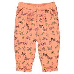 Sarouel pants with decorative print