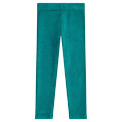 Plain-colored ribbed leggings