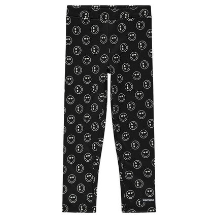 Jersey leggings with an allover ©Smiley print