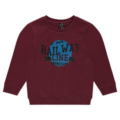 Junior - Fleece sweatshirt with print