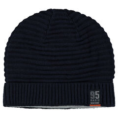 Ottoman knit lined beanie hat