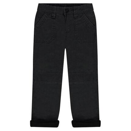 Microfleece-lined muslin pants