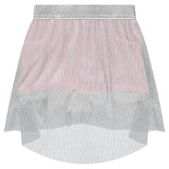 Short skirt with silvery pleated veil