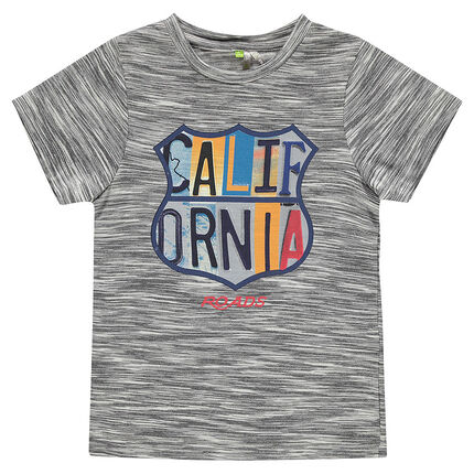Short-sleeved, jersey tee-shirt with printed California badge