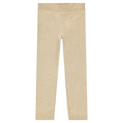 Iridescent golden leggings
