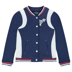 Junior - Fleece letterman jacket with badges