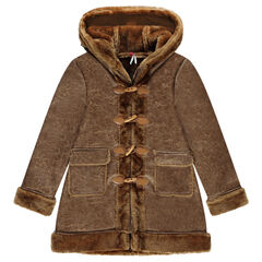 Junior - Coat in skin-out furskin and fake fur