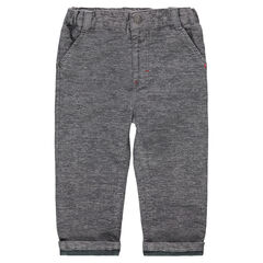 Heathered cotton pants with jersey lining