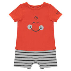 2-in-1 effect romper with a ©Smiley print