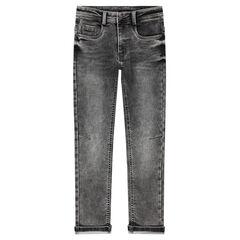 Junior - Distressed fleece jeans