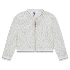 Junior - Zipped bomber jacket with lace