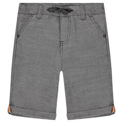 Cotton bermuda shorts with drawstrings