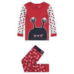 Jersey pajamas with monster print c94a2c928