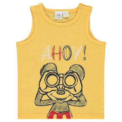 Slub jersey tank top with Disney Mickey Mouse print