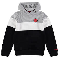 Junior - Ottoman fleece sweatshirt with ©Smiley badge