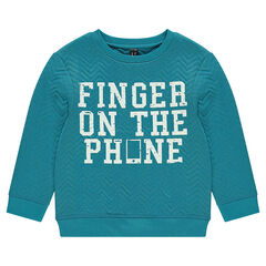 Fleece sweatshirt with print