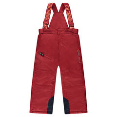Plain ski pants with removable straps