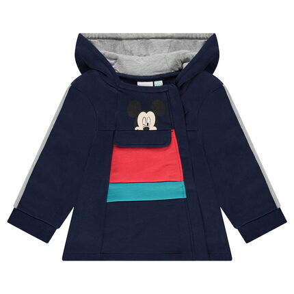 Hooded fleece jacket with a ©Disney Mickey Mouse print