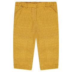 Woven muslin chino pants