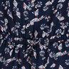 Long crepe jumpsuit with decorative print