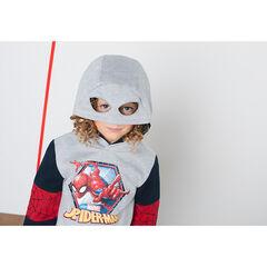 Fleece sweatshirt with a ©Marvel Spiderman print and mask-effect hood