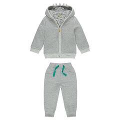 Fleece sweatsuit with hood