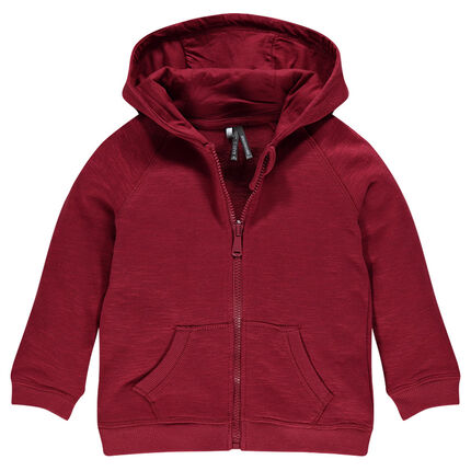 Junior - Light, slub fleece hooded jacket