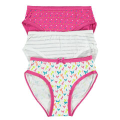 Set of 3 trendy pairs of printed underwear