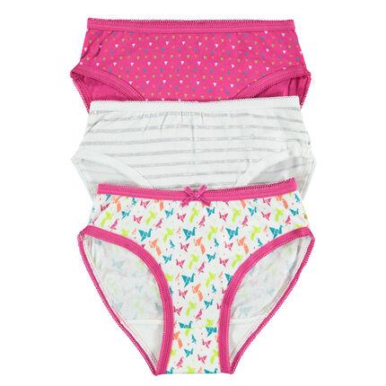 Set of 3 trendy pairs of printed underwear