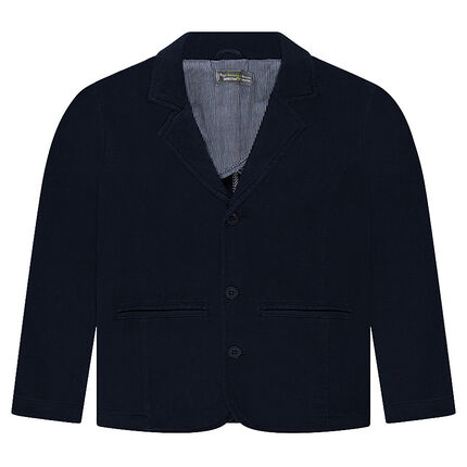Junior - Heavyweight Jersey Blazer With Striped Lining