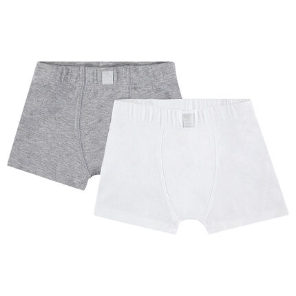 Set of 2 plain-colored cotton boxers.