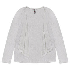 Junior - Jersey cardigan with flaps