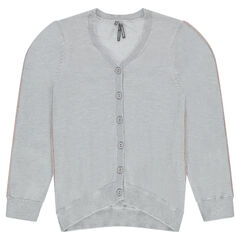 Junior - Plain-colored knit cardigan