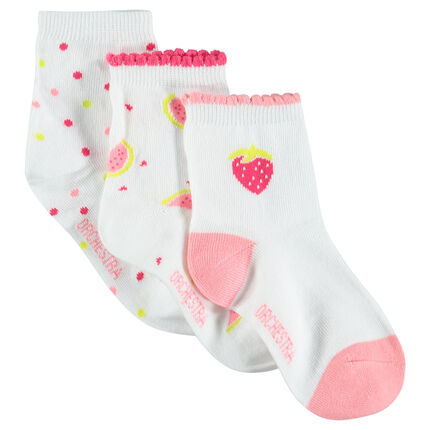 Set of 3 pairs of trendy socks