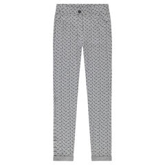 Jeggings with an allover print